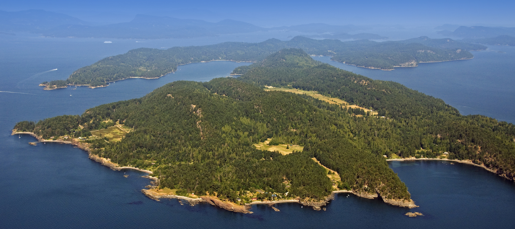 Pender Island from above
